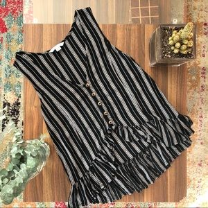 American Eagle Casual Striped Top